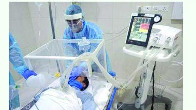 कोरोना संक्रमणबाट पहिलो व्यक्ति भेन्टिलेटरमा