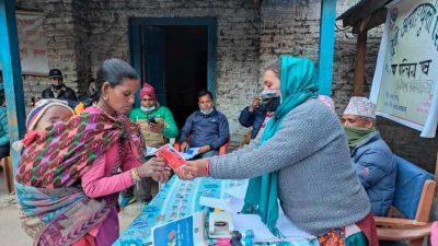 तातोपानी गाउँपालिकाद्वारा स्वास्थ्य परीक्षणसहित अपाङ्ग परिचयपत्र वितरण