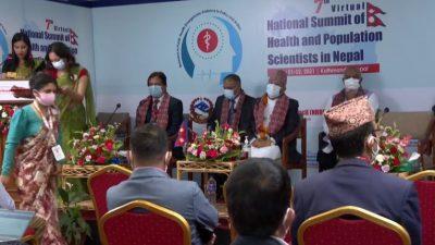सातौं स्वास्थ्य तथा जनसंख्या वैज्ञानिक सम्मेलन सुरू, स्वास्थ्यमन्त्री श्रेष्ठद्वारा उद्घाटन