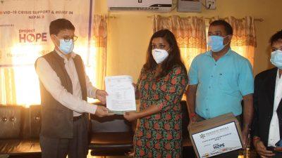 सुदूरपश्चिम प्रदेश सरकारलाई १ करोड रुपैयाँको स्वास्थ्य सामाग्री सहयोग