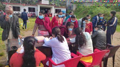 एक दिने निःशुल्क स्वास्थ्य शिविर सम्पन्न