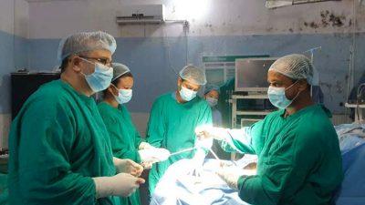 बाँकेको भेरी अस्पतालमा पहिलोपटक मल्टीलिगामेन्टको सफल शल्यक्रिया