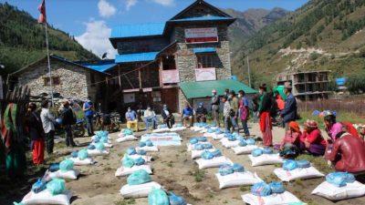 पातारासीका ४० कोभिड प्रभावित घरपरिवारलाई राहत